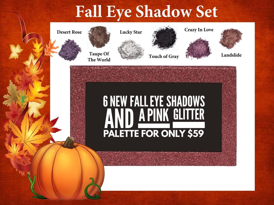 NEW Fall Eye Shadow Set With Pink Glitter Palette